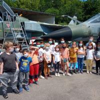 1er juillet 2021; visite classe CE1 de l'école élémentaire d'Avord