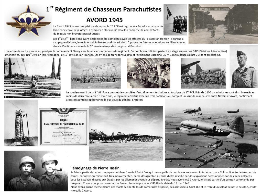 1er RCP AVORD 1945
