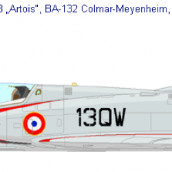 Mirage IIIB n°214 13-QW à l'escadron 1-13 Artois en 1962
