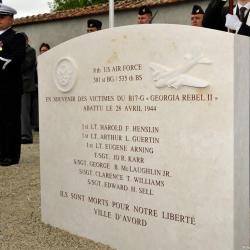 Stèle en mémoire de l'équipage du B-17