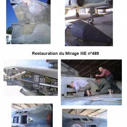 Restauration Mirage III E n°489