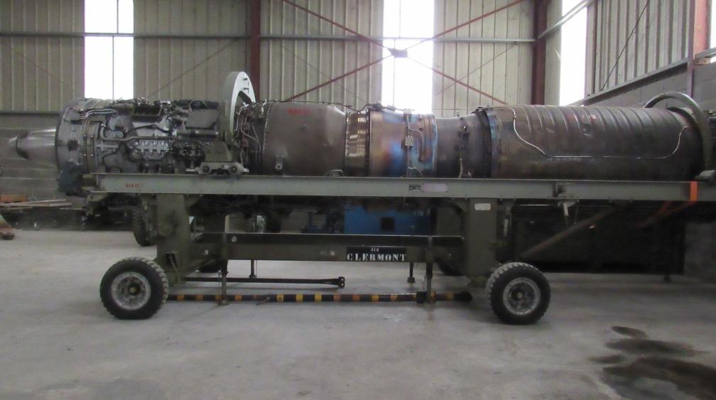 Réacteur Atar 9K50 sur chariot transport