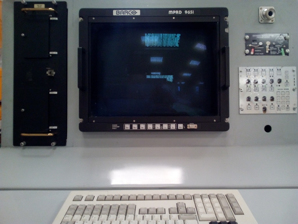 Prototype console de commandement installée à bord du SDCA 202