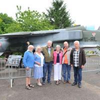 06 juin 2017: Famille américain du crash B-17 le 28 avril 1944